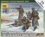 WWII Soviet Infantry in winter uniform 1941-42, Zvezda 6197