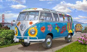 VW T1 Samba Bus Flower Power, Revell 07050